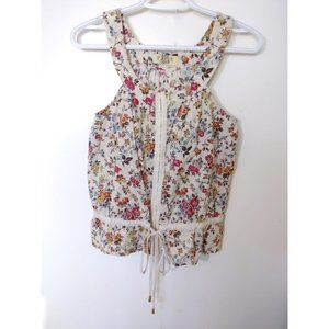 Pull and Bear Sleeveless Floral Top